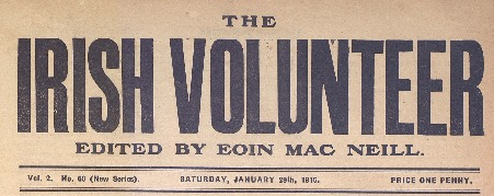 Irish Volunteer masthead